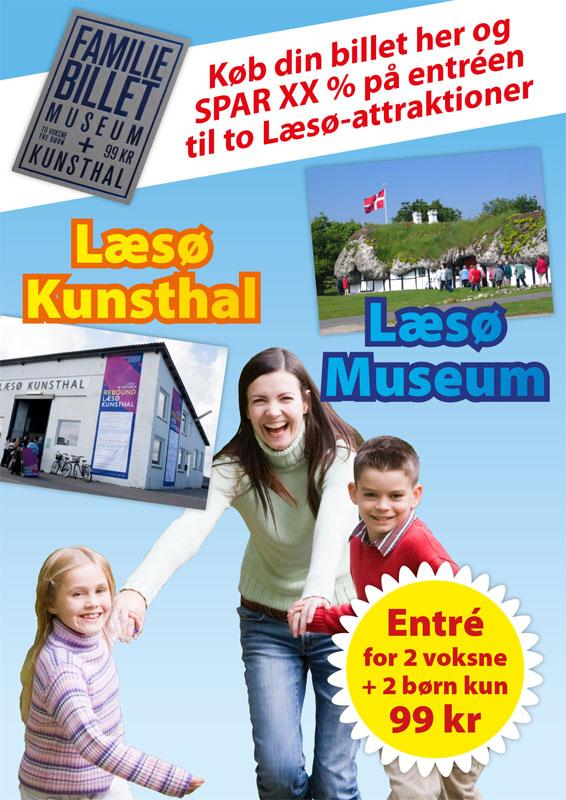 Turistplakat til Læsø for 'Forlaget Forlæns'